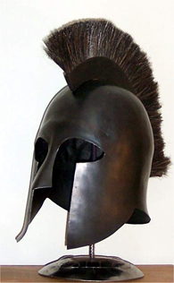 Hoplite helmet by Otto Bacon