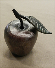 Steel apple by Darla Selander